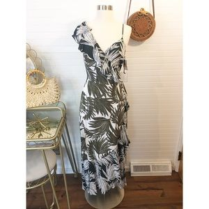 NWT 1. State Tropical Print Wrap Dress